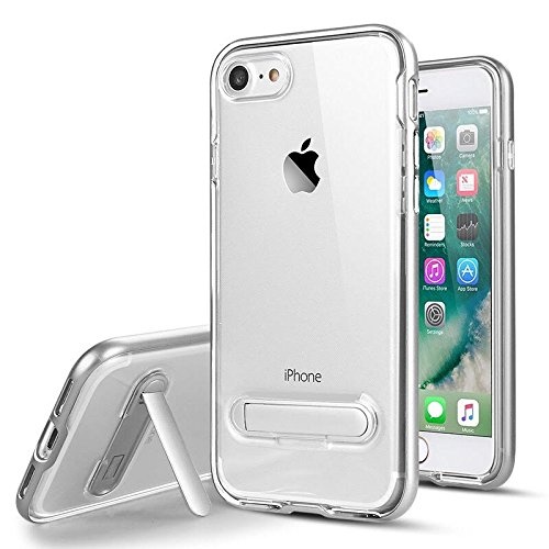 Iphone 7Plus Case (5.5') Hybrid Dual-layered structure, Durable TPU PC - Crystal Clear Back with Kickstand - 6 Colors - Retail Packaging - Set of 1 - Teen Choice Justin Bieber