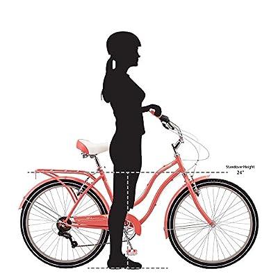 Schwinn Perla Cruiser Women's Bicycle, 26 inch wheel size, Coral bike