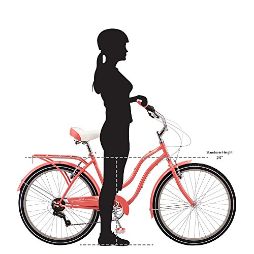 Schwinn Perla Cruiser Women\'s Bicycle, 26 inch wheel size, Coral bike