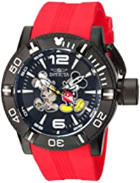Men's 'Disney Limited Edition' Automatic Metal and Silicone Casual Watch, Color:Black (Model: 23790)