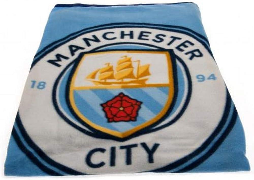 Football Club Fleece Blanket 110 x 140 cm Premier League Club Manchester City F.C
