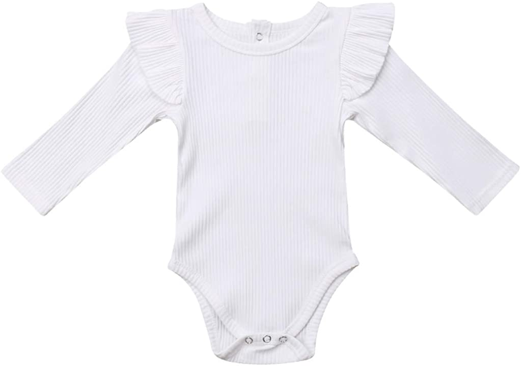 Mameluco Beb/é 1 Piezas Body para Baby Girl sin Manga Romper Verano Ni/ñas de Algod/ón Color s/ólido de Chicas 0-18 Meses