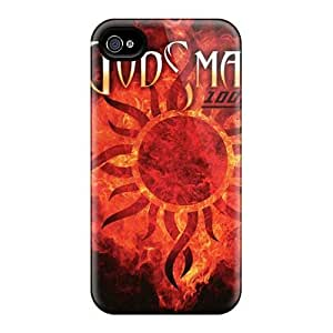 Protective Hard Phone Cases For Iphone 4/4s With Custom Nice Godsmack Band Pattern JamieBratt