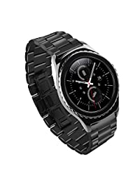 Samsung Gear S2 Bands, iitee 20mm Stainless Steel Watch Band Strap Replacement for Huawei Watch 2 Sport/Samsung S2 Watch Classic - Black