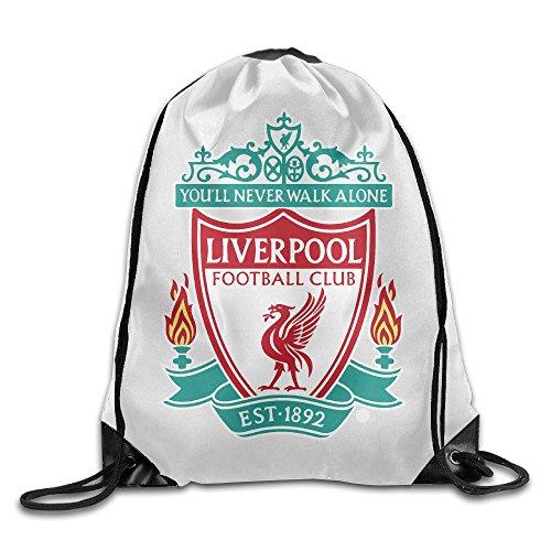 Liverpool FC Soccer Club Sport Backpack Drawstring Print Bag