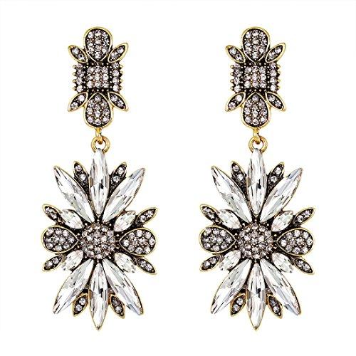Fashion Zircon Earrings Diamond-Encrusted Love Heart Earring For Girls (A)