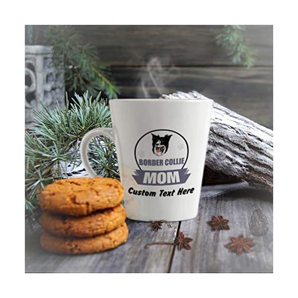 Ceramic Custom Latte Coffee Mug Cup Mom Border Collie Dog Tea Cup 12 Oz Personalized Text Here 5