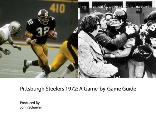 Pittsburgh Steelers 1972: A Game-by-Game Guide