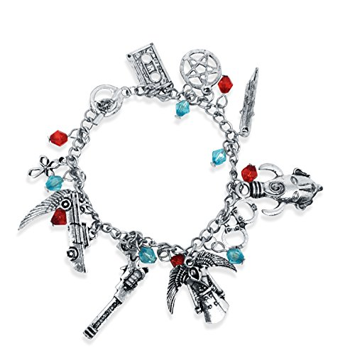 Price comparison product image TV Inspired Merchandise. Super 10 Piece Charm Bracelet with Red and Blue Beads