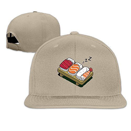 Kawaii Sushi de dormir adultos Fashion Gorra Ajustable