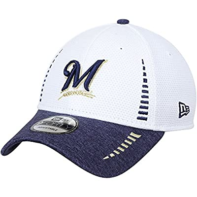 Milwaukee Brewers New Era Speed Tech 9FORTY Adjustable Hat White