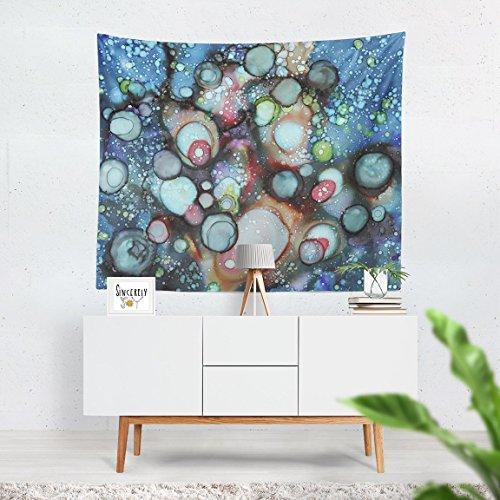 Abstract 'Galaxy A' wall art hanging tapestry. Organic artwork by artist C.Cambrea. Unique original home decor accessories.