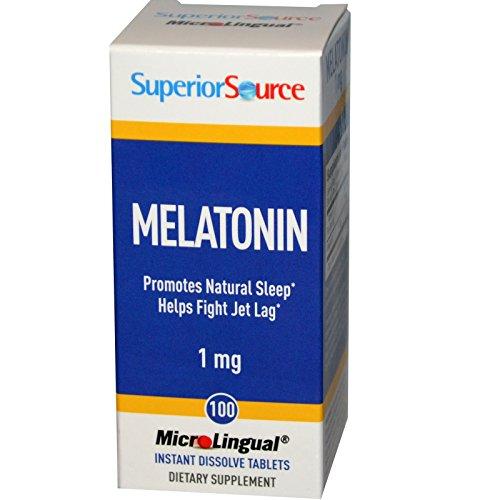 Source supérieure, mélatonine, 1 mg, 100