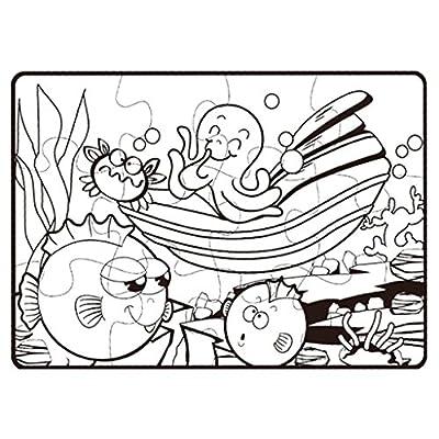 Vettoriale Animali Marini Sottacqua Da Colorare Il Grande Libro