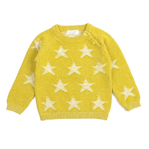 tar Pattern Knitted Crochet Pullover Sweater Yellow (Sweater Crochet Pattern)