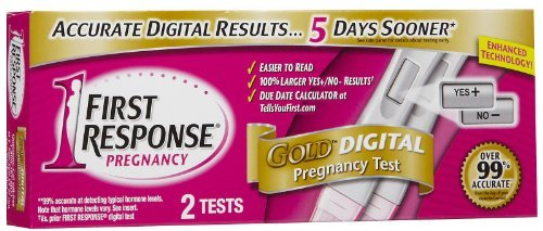 FIRST RESPONSE Gold Digital Pregnancy Tests 2 EA - Buy Packs and SAVE (Pack of 4)