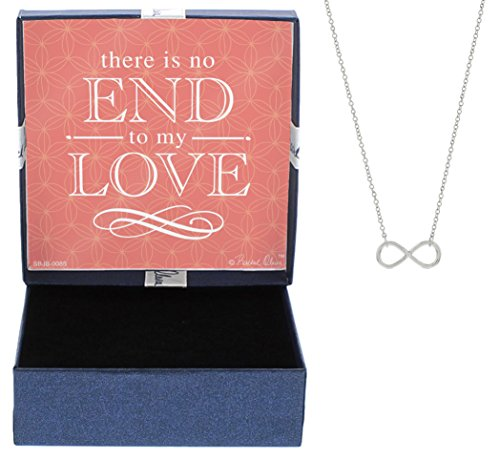 Gifts for Girlfriend Silver-Tone No End to My Love Infinity Symbol Necklace Jewelry Box Dating Anniversary Love You More Necklace Christmas Gifts for Girlfriend
