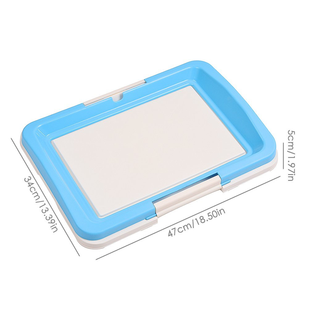 awtang Pet Training Toilet Small Sized Dog training Tray for Pets' Defecation Puppy Dog Potty Training Pad Blue by awtang (Image #6)
