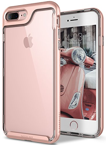 iPhone 7 Plus Case, Caseology [Skyfall Series] Transparent Clear Enhanced Grip [Rose...
