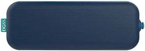 DOSS Pie Portable Bluetooth speakers,Ultra Slim Pocket-Sized Portable Wireless Stereo Speakers with Dual Drivers,4W output,Built-in Rechargeable battery,handsfree,3.5mm line-in support[Blue]