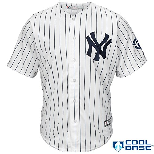 Derek Jeter New York Yankees #2 MLB Men's Cool Base Home Jersey with Retirement Patch (Medium)