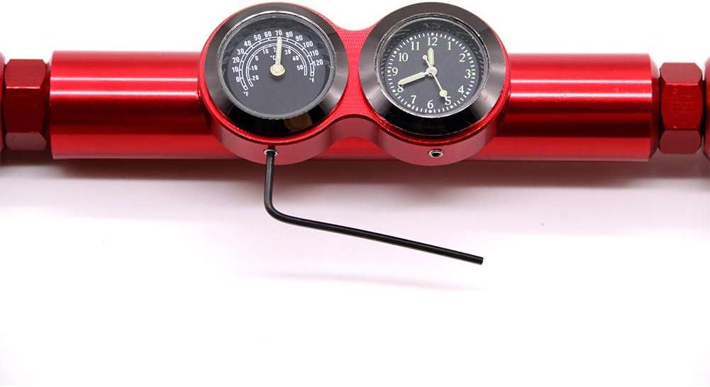 housesweet Motorrad Balance Bar Cross Bars Lenker mit Thermometer Uhr Uhr 22 mm Aluminiumlegierung
