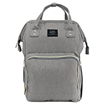 Land Baby Diaper Bag Large Capacity Mommy Backpack Baby Nappy Tote Bags Multi-Function Travelling Backpack for Mom Travellers Nurses Students