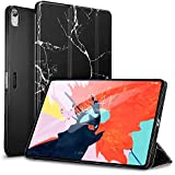 """ESR Marble Trifold Case for iPad Pro 11"""" 2018, Lightweight Stand Smart Case[Apple Pencil Charging not Supported],Microfiber Lining,Hard Back Cover,Compatible with iPad Pro 11"""" (2018), Black Marble"""