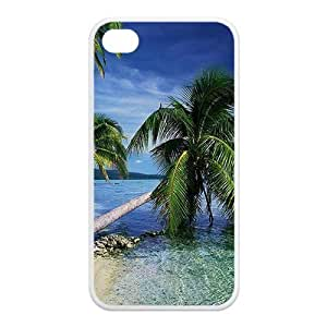 Custom Your Own Personalised Tropical Deserted Island - Beach Ocean iPhone 4/4S Best Durable Case Cover