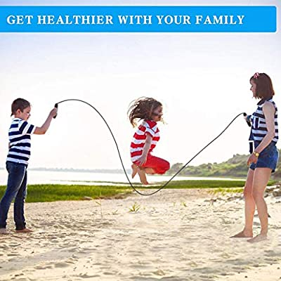 Seaintheson Skipping Rope Tangle-Free with Ball Bearings Rapids Speed Jump Rope Cable Adjustable for Aerobic Exercise: Home Improvement