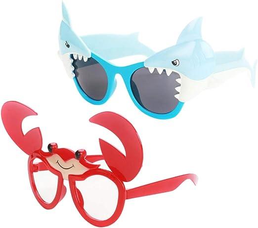 IPOTCH 2pcs Gafas de Sol de Disfraces Patrón de Cangrejo/Tiburón ...