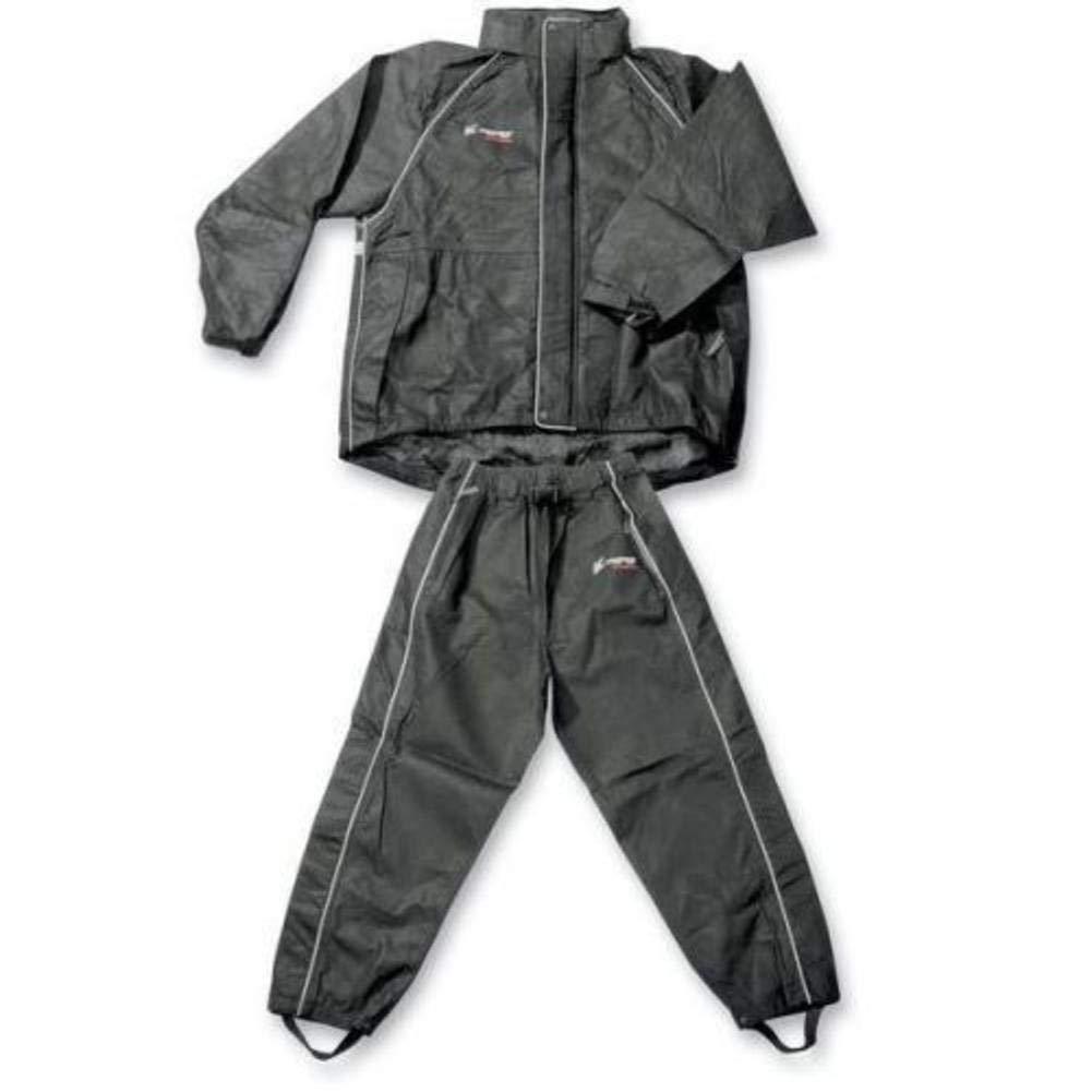 Frogg Toggs Men's Cruisin Toggs Rainsuit (Black, Large) TT10399-01LG