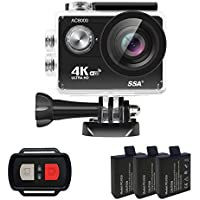 4K Action Camera, iHomepack Ultra HD Waterproof Sports Camera Sport Extreme Mini Helmet Cam Recorder Marine Diving with 4K/2.7K/1080P 60/720P 120fps Video 12MP Photo and 170 Wide-Angle Lens