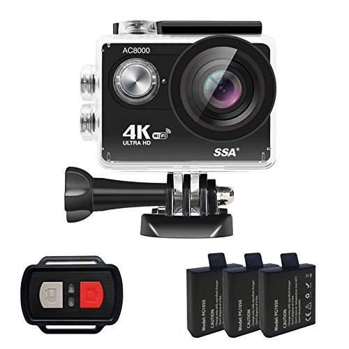4K Wifi Action,iHomepack Waterproof Camera Ultra HD Sport Extreme Mini Helmet Cam Recorder Marine Diving 2.0 Lcd 170 Degree Wide Lensc Include Waterproof Casec2pcs Batteries and Full Accessories Kits