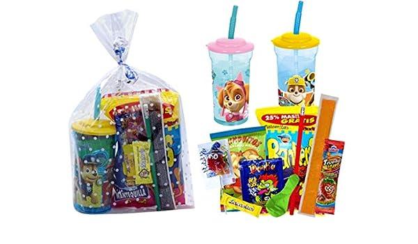Lote de 5 Vasos Infantiles Decorativos con Caña y Golosinas ...