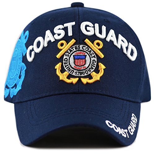 THE HAT DEPOT Official Licensed Military U.S. Coast Guard Cap (Navy)