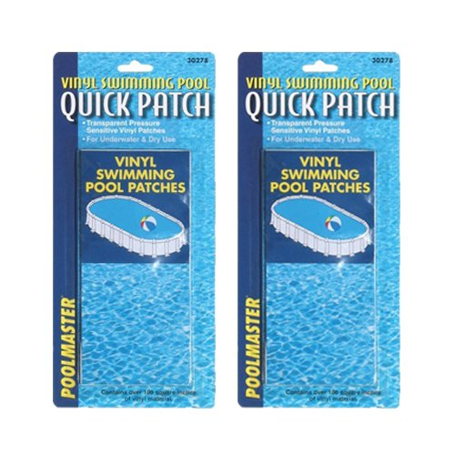 Poolmaster 30278 Underwater Swimming Pool VINYL LINER Repair Patch Kit-2 Pack