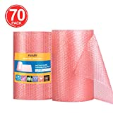 """Fuxury Anti-Static Bubble Cushioning Wrap Roll Air Bubble Roll 2 Rolls 72 Feet Total,Perforated Every 12"""",Included 20 Fragile Sticker Labels for Packaging Moving Shipping Boxes Supplies"""
