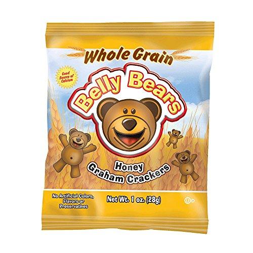 Readi-Bake BeneFIT 200ct Whole Grain Belly Bears Animal Cracker Snacks, Honey Graham, 1 Ounce Packages ()