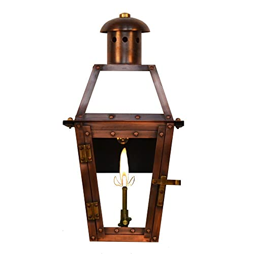 outdoor gas light fixtures cottage porch the coppersmith georgetown 155 gas lanterns outdoor amazoncom