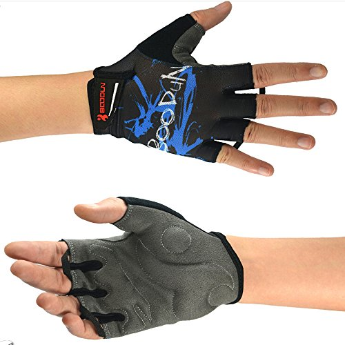 Od-sports Professional Cycling Gloves Mens Women's Sponge Pad Half Finger Gloves Bike Bicycle Cycle Non-Slip Breathable Gloves (Black, - Friday India Deals Online Black