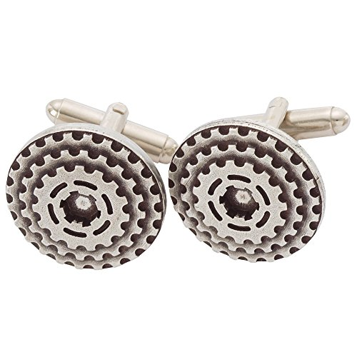 Danforth - Bike Gears Cufflinks - Pewter - Handcrafted - Made in USA