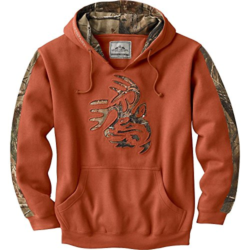 Legendary Whitetails Men's Realtree Camo Outfitter Hoodie Texas Orange X-Large