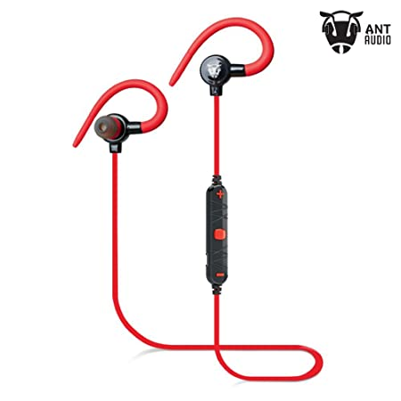 Ant Audio H25R In-Ear Bluetooth Sports Earbud Earphones with Mic (Red)
