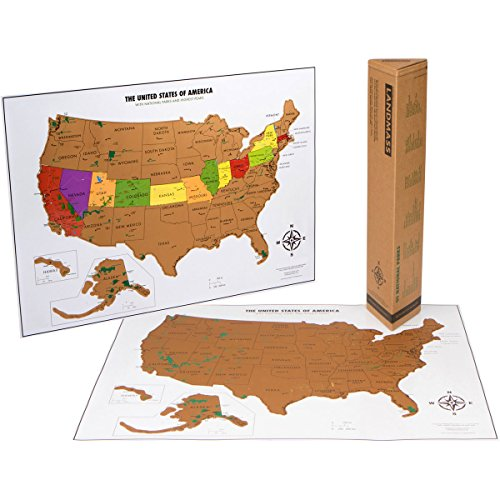 Top Best Scratch Off Map Of United States For Sale BOOMSbeat - State check off map
