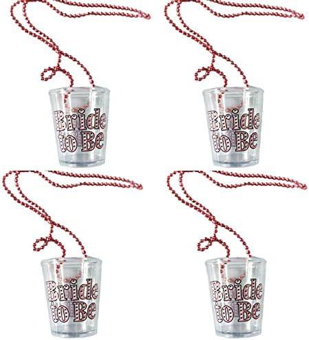 12er Schnaps//glas Pinnchen an Perlen//kette Junggesellenabschied becher Shots