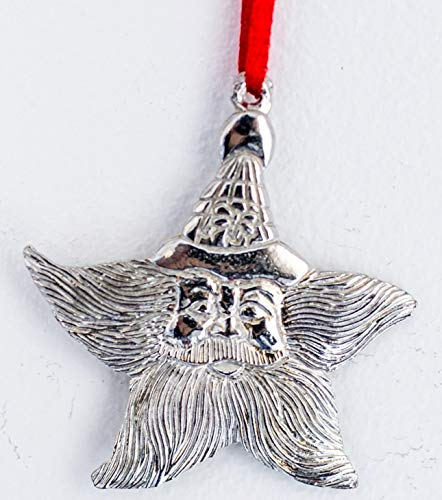 995 Santa Star Ornament Pewter