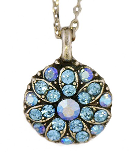 Mariana Guardian Angel Metallic Blue Swarovski Crystal Necklace 202