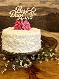 Cake Topper   Natural Wood   Best Day Ever