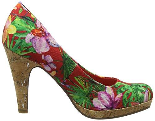 Marco chili Talons 22421 forme Plate Tozzi Femmes 547 Fleur Rouge Des qZ58Hwa